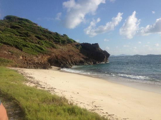 Palm Island Resort & Spa: private beach a short walk/bike ride away