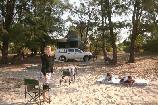 Pomene Lodge : Campingbereich