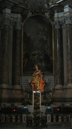 Basilika St. Mang: The lady chapel,Statue of Our lady of Füssen.18th century German barrock.
