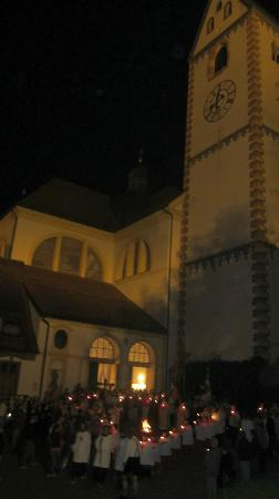Basilika St. Mang: Candlelit procession setting off from St Mang on Patronal feast