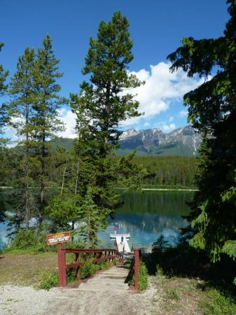 Patricia Lake Bungalows Resort: View from the front door