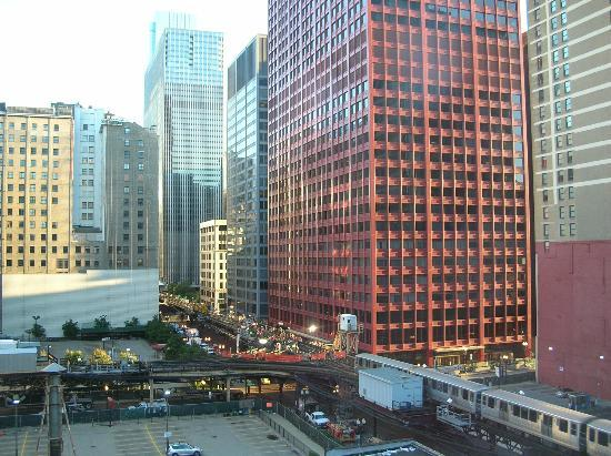 Hostelling International Chicago: View from semi-private room on the South side off the hostel (6th floor).