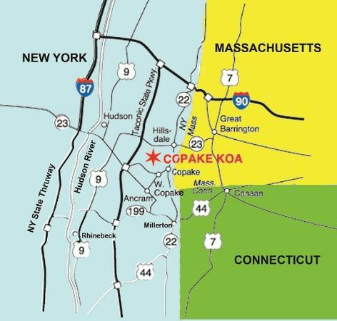 Copake KOA: Located by Three States
