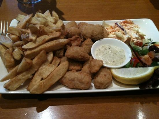 Purdy Lodge: Scampi & Chips - delicious!
