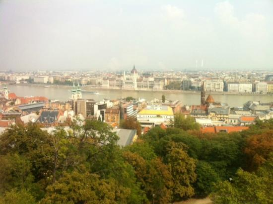 Hilton Budapest: A view from our room...