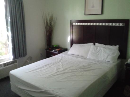 Trylon Hotel: zimmer 211 blick von der tür aus
