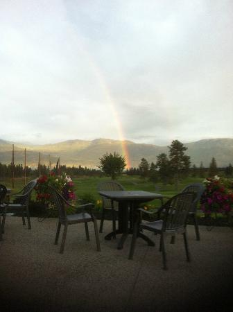 19 Okanagan Grill + Bar at Two Eagles Golf Course: A rainbow overlooking our patio