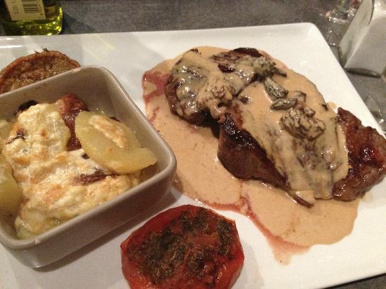 RESTAURANT LE CHAUDRON : Wonderful steak