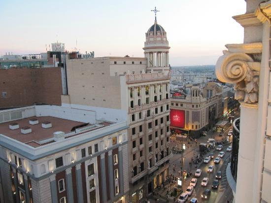 Hotel Atlantico: View from top floor lounge to Callao Square