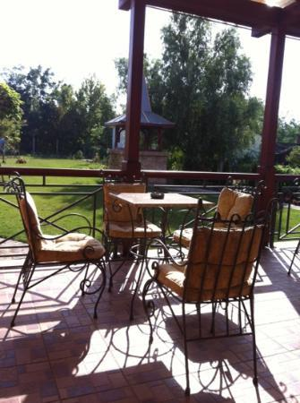 Villa Larus: the terrace on the garden ( form next summer BBQ will be ready)