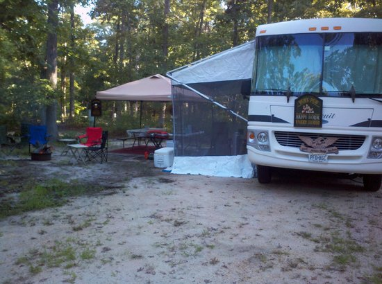 Butterfly Camping Resort: Our campsite