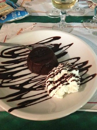 Hosteria la vaca borracha: tortino al cioccolato