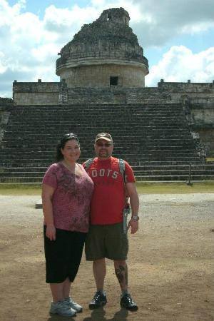 Cancun With Me: observatory at chichen itza