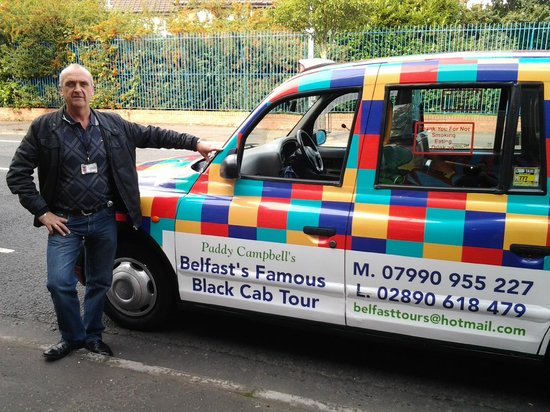 Belfast, UK: Paddy Campbell with the Famous Cab
