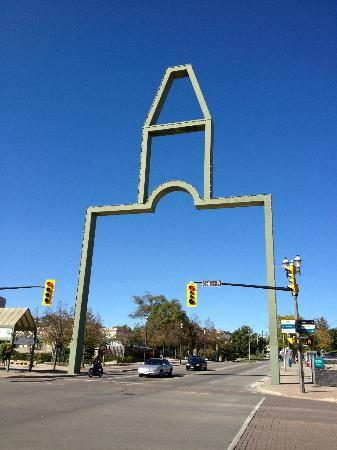 This iconic Barrie landmark is just across the street.