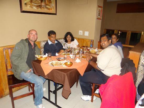 Cape Convoy: Last night dinner at Rasoie