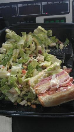 The Lunch Box : This was the awesome Cobb Salad and Half Club Sandwich