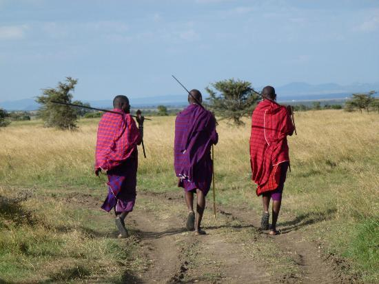 Porini Rhino Camp: Out on Walking Safari with Masai
