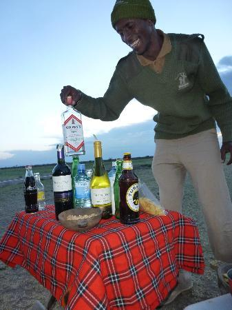 Porini Rhino Camp: Sundowners