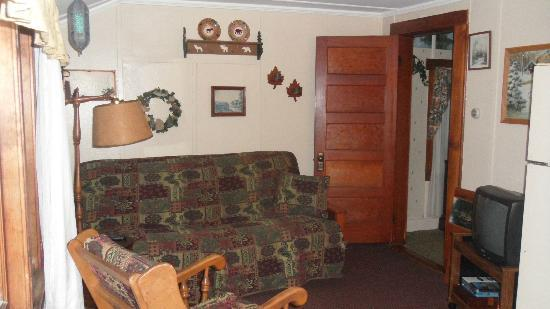 Carroll Motel & Cottages : Great North Cottage #5 living room area
