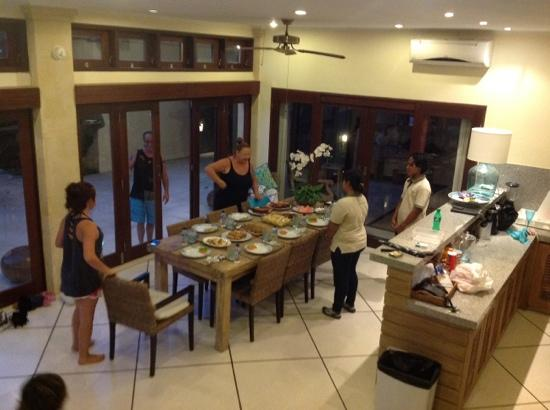 Villa Bugis: dinner prepared by villa staff