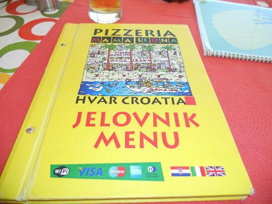 Pizzeria Mama Leona: Menu