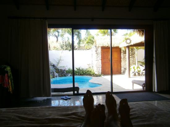 "Crown Beach Resort & Spa: The ""foot"" of our bed view ."