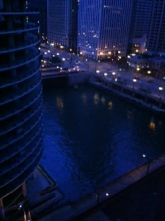The Westin Chicago River North: Our Room View After Dark