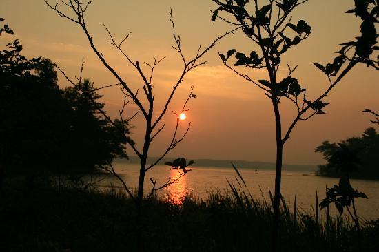Ludington State Park: Sunrise over Hamlin Lake