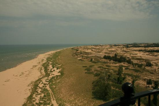 Ludington State Park: View from top of lighthouse