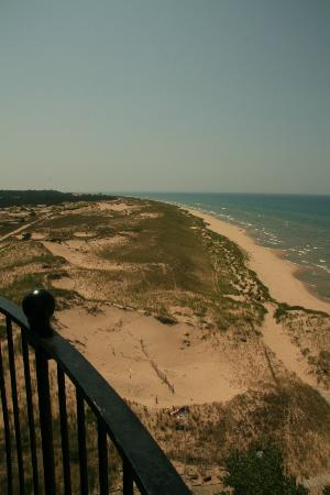 Ludington State Park: View from top of light house looking south