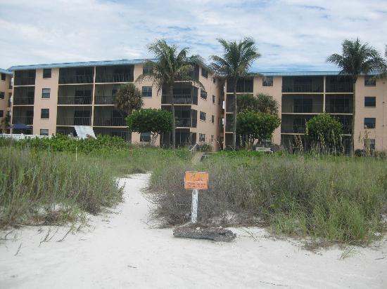 Ocean's Reach Condominiums: View of condo from beach