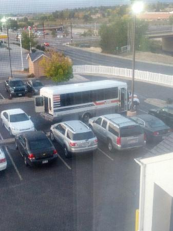 Fairfield Inn Colorado Springs Air Force Academy: Bus taking several parking spots.