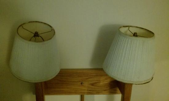 Howard Johnson Inn Commerce GA: Mold lamp shades