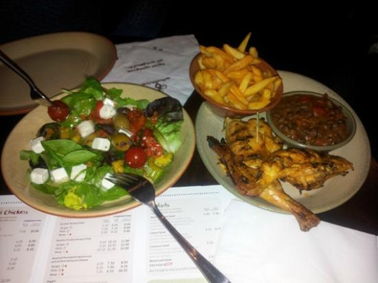 Nando's - Wembley: Salad and half chicken dinner