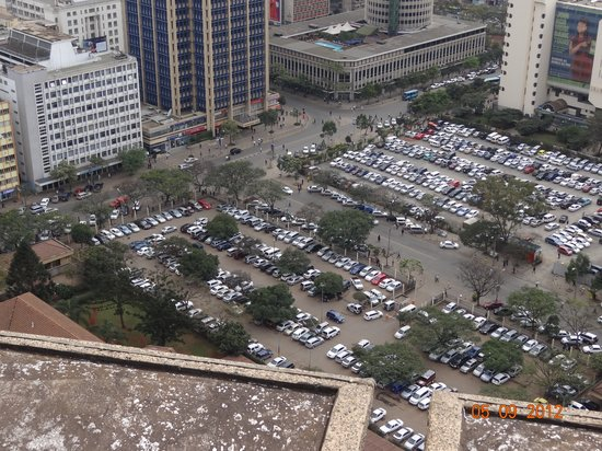Kenyatta International Conference Center: the parking is Masai Market on Saturday and Sunday