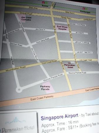 Le Peranakan Hotel: Map