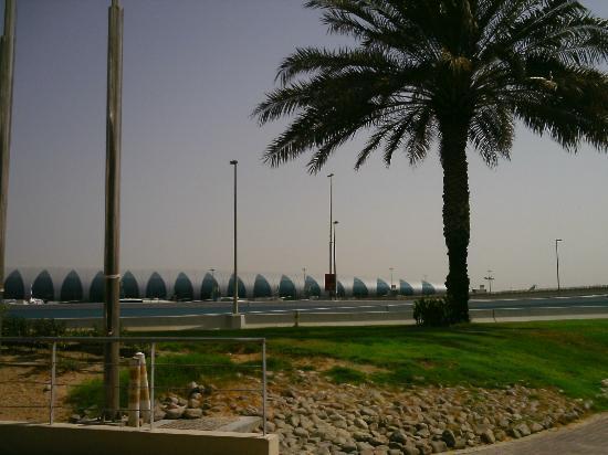 Holiday Inn Express Dubai Airport: uitzicht vanuit de lobby