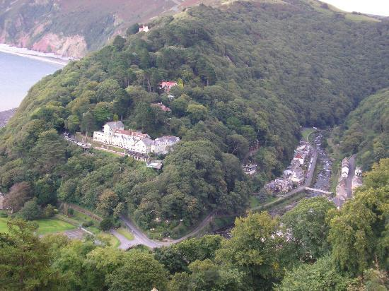 Lynton, UK: View from Room 77