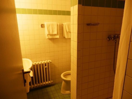 Central Hotel: tiny bathroom