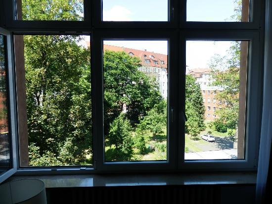 Hotel Prinzregent: view from window