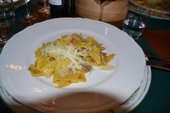 Fattoria Lavacchio: un primo piatto