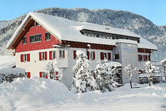Erlebnisgastehaus Kanisfluh: Unser Erlebnisgästehaus im Winter