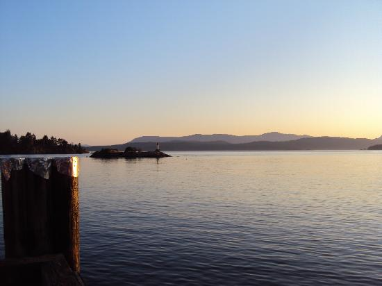 Corbett House Country Inn: Beginning of sunset from Washington Wharf.