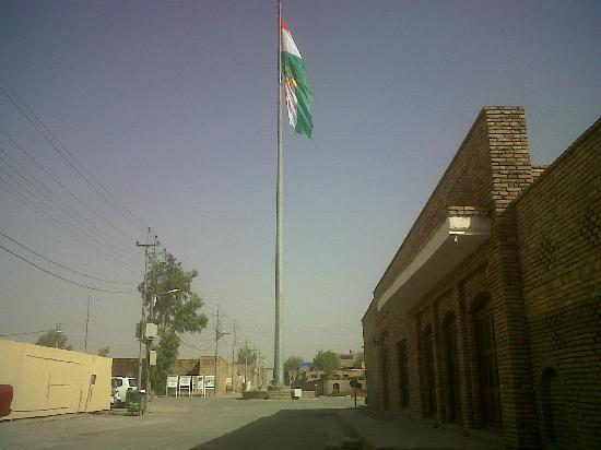 Erbil Citadel: Bandiera Kurdistan dentro la Cittadella