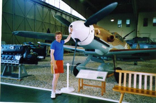 Military History Museum of Bundeswehr: Yours truly with Bf109