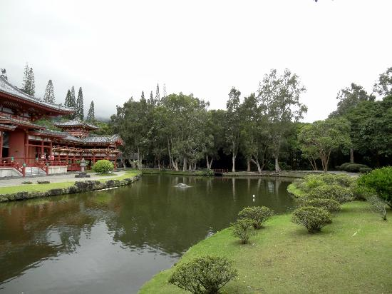 Byodo-In Temple: The gift shop is behind the trees