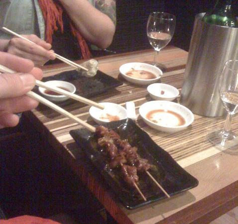 Oishii Scotland Casual Japanese Dining: Prawn Gyoza & Chicken Yakitori