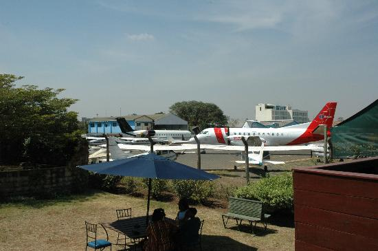 Aero Club of East Africa Restaurant: view from the garden