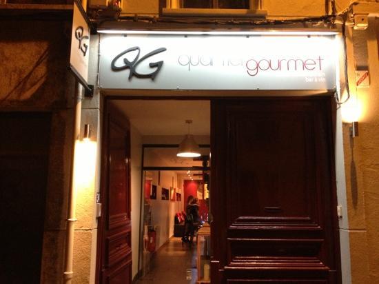 Le Quartier Gourmet : l'entrée